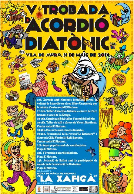 cartel la xafigà V trobada d'acordió diatònic